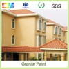 Anti algal anti fungal exterior wall painting use real stone material granite effect paint for building