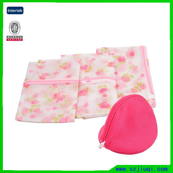Hot selling cute pink prmotional travel mesh laundry bag