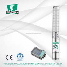 4TSSC 2015 PUMPMAN new 4'' deep well dc centrifugal solar power 316 stainless steel deep well submersible water pump