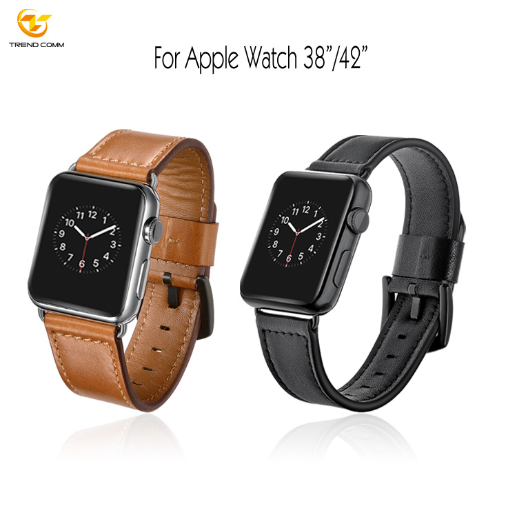 38mm/42mm watchband for apple watch 3 strap factory, leather for apple watch 3 band leather