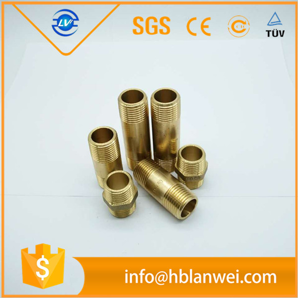 1/2 inch pipe fittings brass pipe nipples with NPT thread