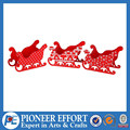 red wooden christmas decorations sleigh candy box mini for christmas decoraiton suppliers 2015