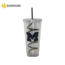 FDA Disposable 24oz transparent rocket shape personalized kids plastic cups with straws