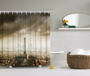 Wonderful designs polyester high quality 96 inch shower curtain