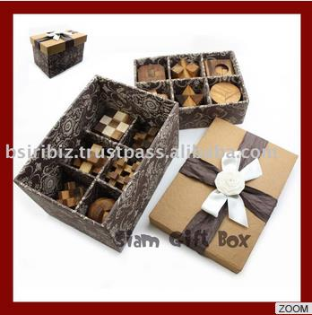 High Quality promotional item 3D wooden puzzle with box