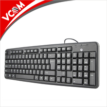VCOM wholesale custom logo hot sale cheap wired desktops computer keyboard for PC