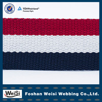 manufacturer customized hot selling luggage strap pp webbing