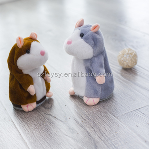 2018 Hot Sale Christmas style 15cm Talking Hamster Plush Toy Sound Record Plush Hamster Stuffed Toys for kids