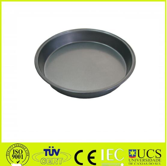 Carbon steel Pizza pan with non-stick coating
