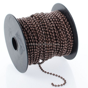 Stainless Steel Chain By The Foot, Antiqued Copper Plated Ball Chain Spool