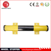 black and yellow 60cm steel parking stopper