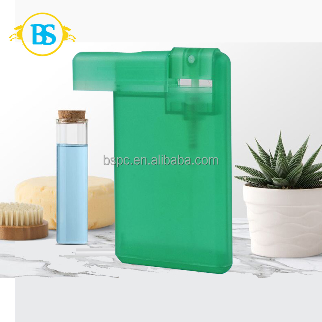 Plastic new products 10ml credit card spray bottle