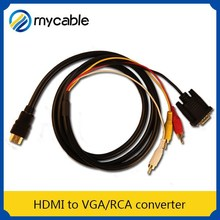 HDMI to RCA/VGA converter hdmi female to vga male cable