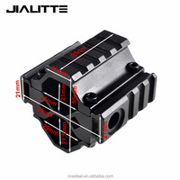 Jialitte Hunting Universal AR15 Tri-Rail Barrel Mount 21mm Picatinny and Weaver Rails with 5 slots Attach Laser Flashlight J014
