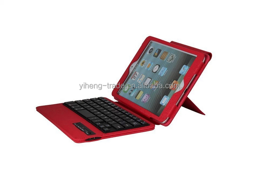 For Apple iPad Mini PU leather Bluetooth 3.0 Wireless Keyboard Holder Case Cover