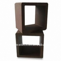 wpc wood composite hollow plastic fence posts