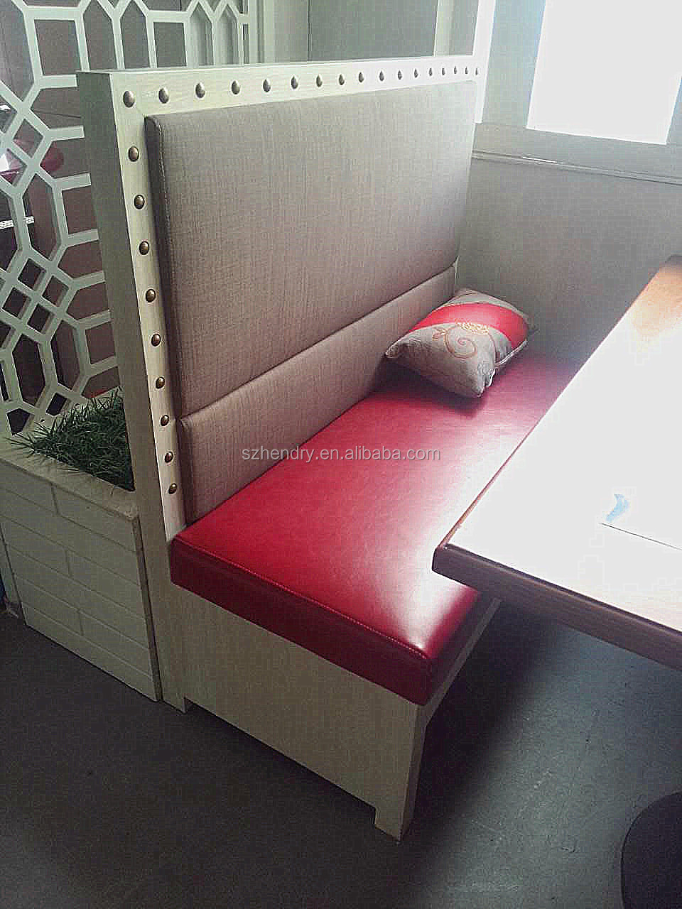 Wholesale coffee leather sofa restaurant booth seating