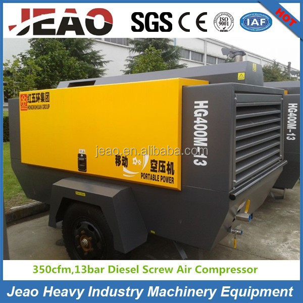 HG400M-13 Portable Screw Diesel Base Mounted Air Compressor/Used Mine Air Compressor