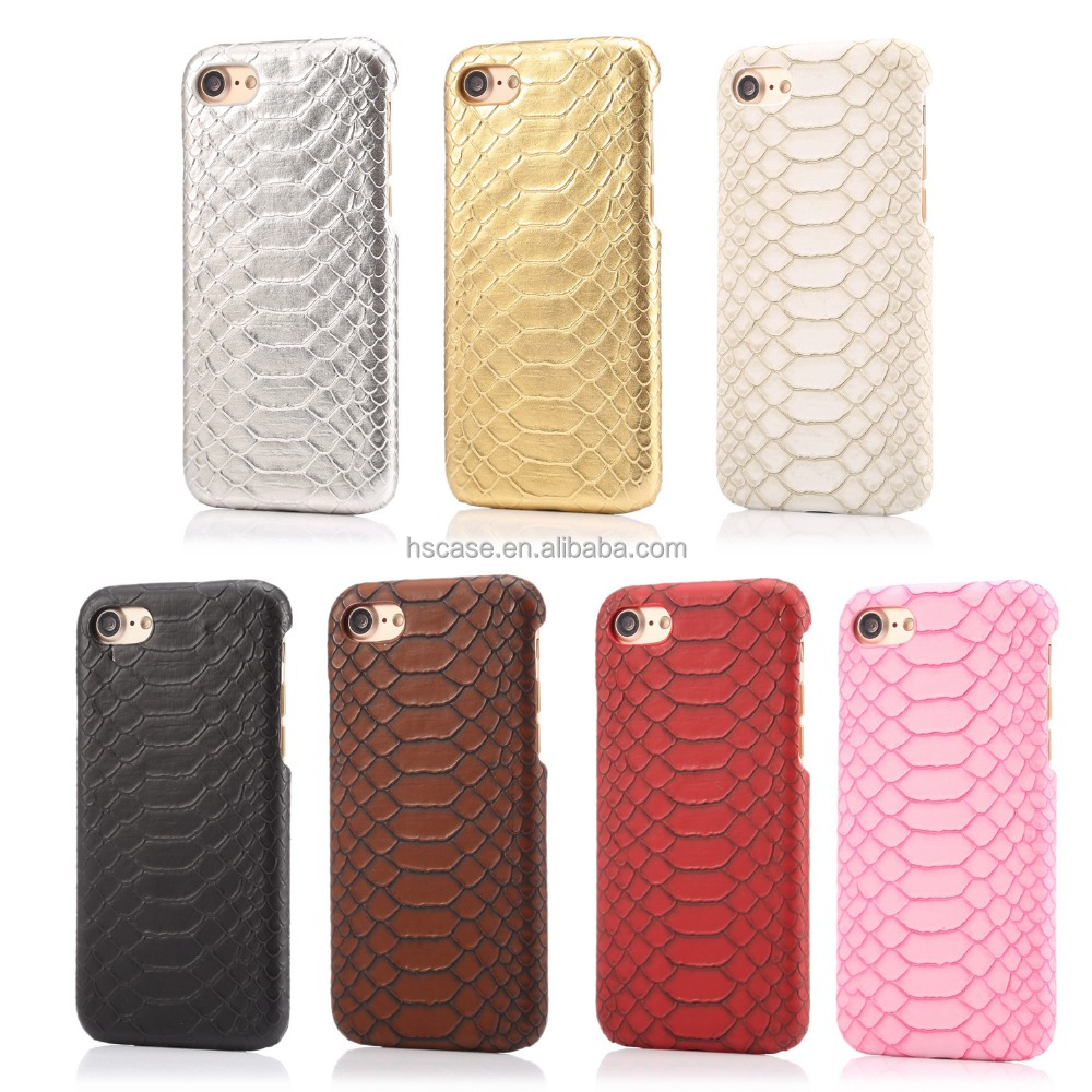 For iphone 7 7 plus 7 colors available snake skin pattern hard plastic phone cover
