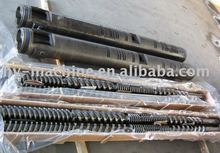 Parallel twin screw and barrel for plastic extrusion machines