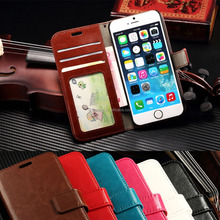 Mobile Phone Stand Leather Flip Wallet Card Slot Pouch Book Case Cover for iphone for LG for HTC