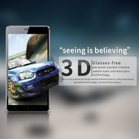 "High Quality 5.5"" 3D mobile phone without glasses for 3D movies and games"