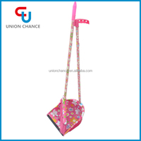 Plastic Printed Dustpan and Broom Set, Designed Broom With Dustpan