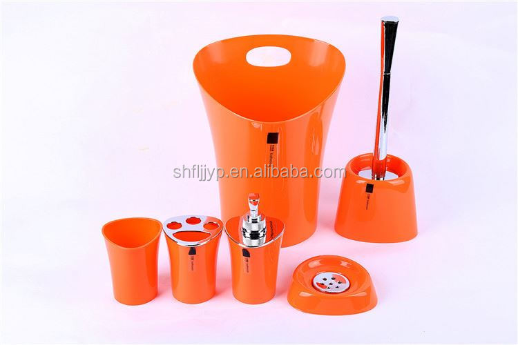 Bathroom plastic container toilet fitting set accessories storage bottles personal care cheap bathroom sets