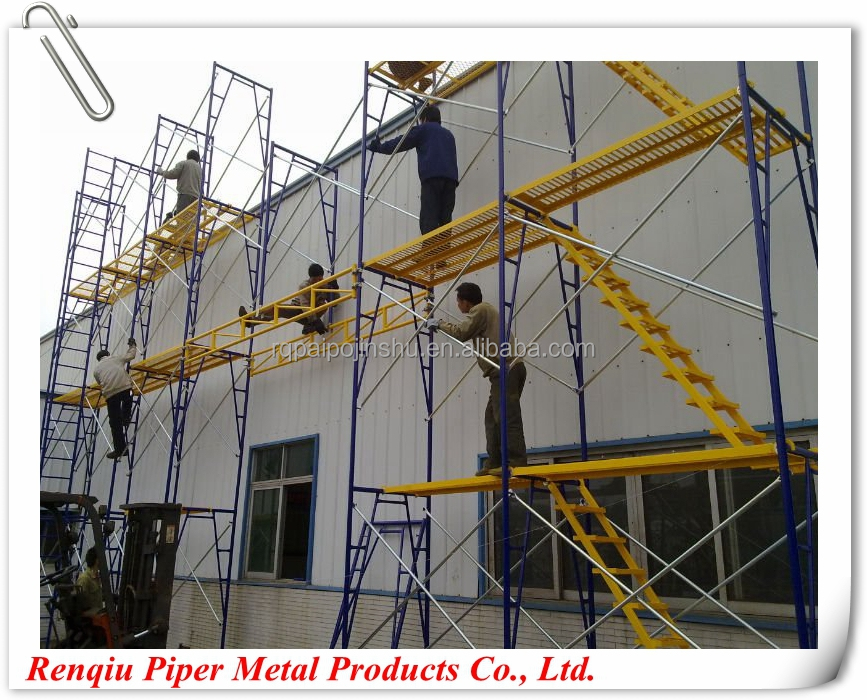Metal Scaffolding Ladders : Aluminum scaffold frame system powder coat ladder type
