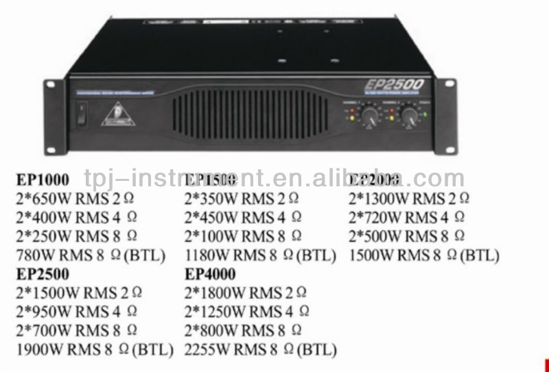 Power amplifier EP2500