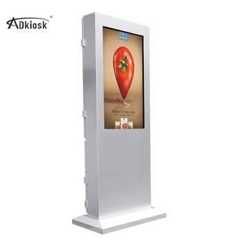 43inch waterproof nude high resolution outdoor touch screen monitor all in one pc advertising gadgets kiosk with air condition