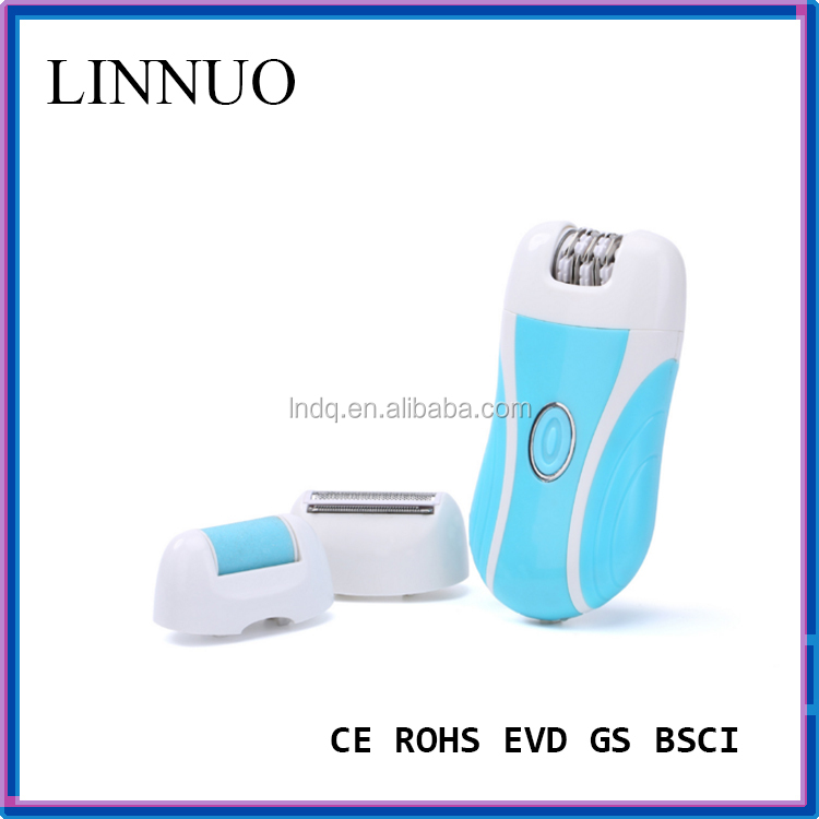 3 in 1 rechargeable epilator Lady Rechargeable Cordless Hair Removal Kit