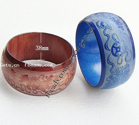 Druzy wooden bangle bracelet painted Wood Bangle