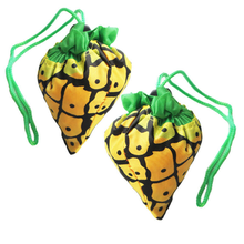 fruit folding bags pineapple foldable shopping bags