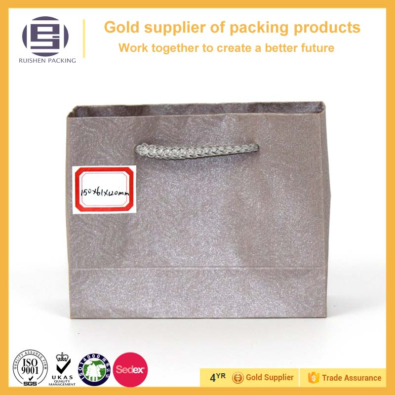 Slap-up specialty silver underwear paper packaging bags