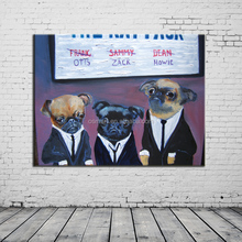 oil painting on canvas china animal photos dogs family naturalism photo modern abstract oil painting ideas for decorate a bar