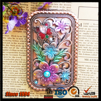 Custom High Quality Russia Exquisite Carved Hand Mirror
