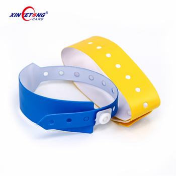 2019 Long Range UHF Disposable PVC Paper RFID Wristband For Hospital Patient Tracking Management