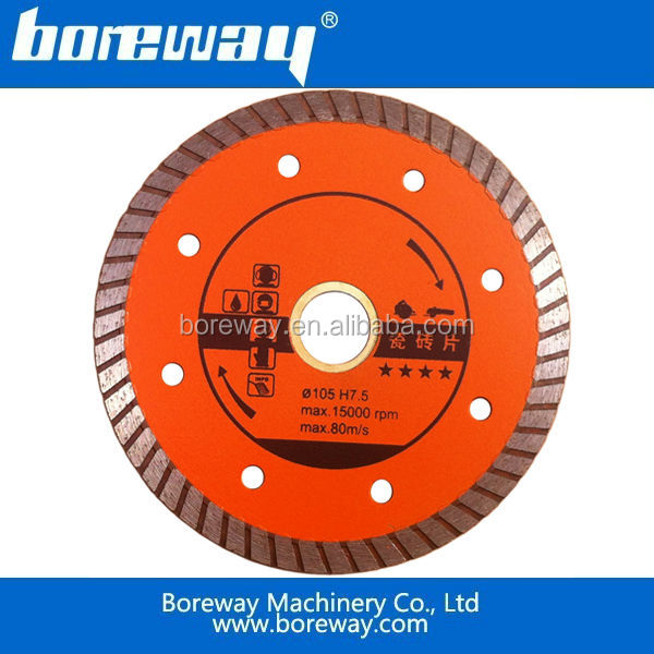 High quality 105mm diamond ceramic tile saw blade sell well in Europe and America