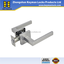 Interior door handle square rose hardware privacy/bathroom function