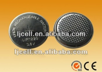 3.6V Li-ion Button Cell Battery LIR1220