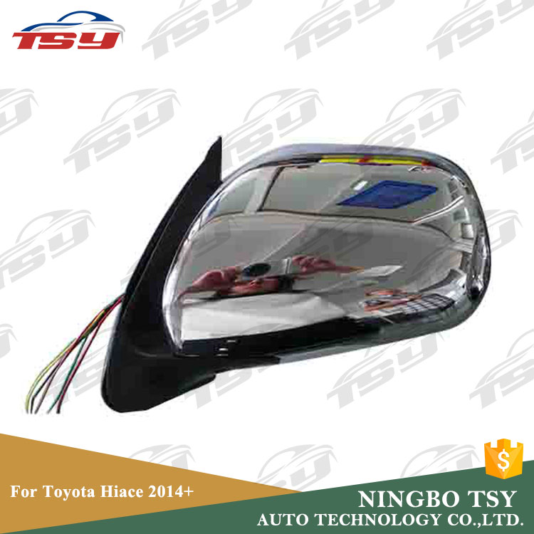 Wholesale Auto Parts ABS Electric LED Car Side Mirror For Toyota Hiace 2014+