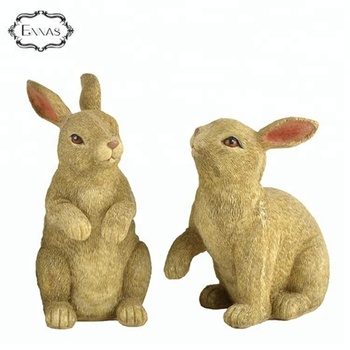 Garden resin easter gift rabbit statues with custom different poses