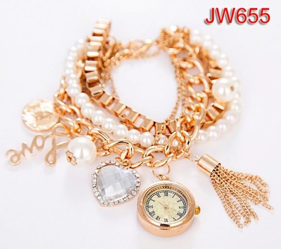 Smart style New Classic elegance cute women's pearl bracelet watch Style LY051
