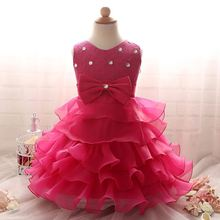 ball children boutique wholesale Kids Clothes For 8 Years Old Baby Satin Party Wedding teen girl dress