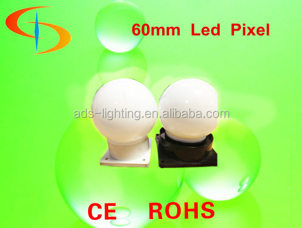 full color LED Pixel LED Point light Bulb -shaped 60mm for outdoor building lighting