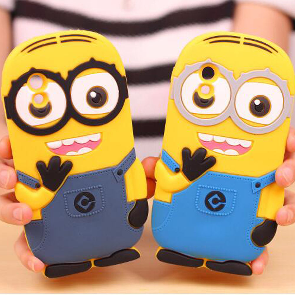 Despicable me style silicone back phone Minion case for lg google nexus 5 cover