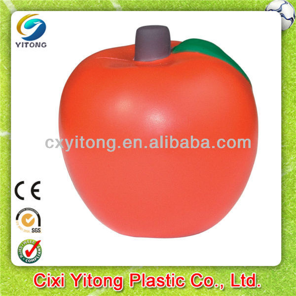 Custom Printed Promotional gift,Apple PU stress ball