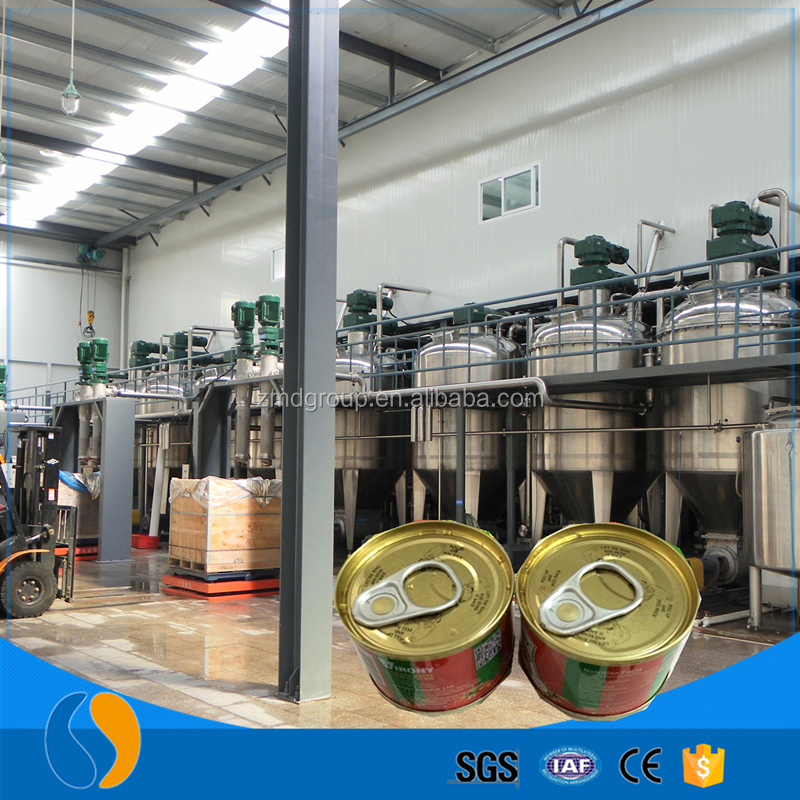 Canned tomato sauce processing plant