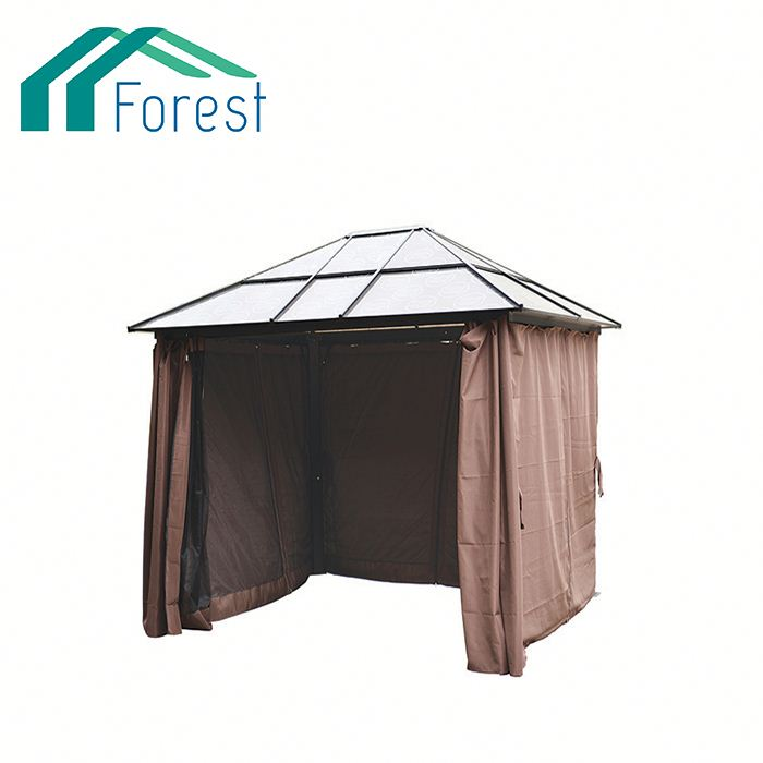 24 Hours Feedback ODM Available flat roof garden gazebo